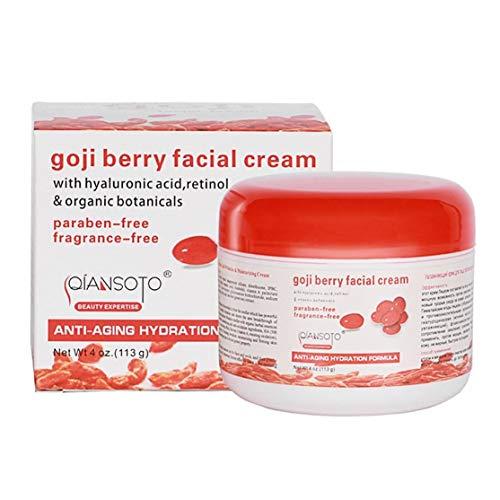 Portable Home Health Anti-Aging Feuchtigkeitscreme Goji Berry Gesichtscreme Hautpflege Feuchtigkeitszubehör(Color:red&white)