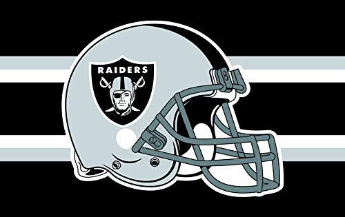 NFL Oakland Raiders 91,4 cm x 1,52 m Banner Champion Flagge für Fans Geschenk, Oakland Raiders, 3x5 FT ()