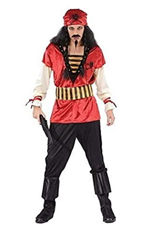 Mens Pirate red top Pirate Costume Outfit for Buccaneer Fancy