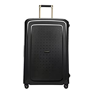 SAMSONITE S'Cure DLX Spinner 81, 5 KG Bagage cabine, 81 cm, 138 liters, Noir (Black/Gold Deluscious)