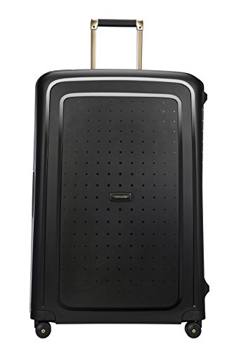 SAMSONITE S\'Cure DLX Spinner, 5 KG Koffer, 81 cm, 138 L, Black/Gold Deluscious