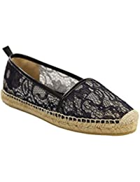 BILLI BI Damen Espadrilles Slipper Gr 38 Black Blonda Mokkassins Schuhe#C19a