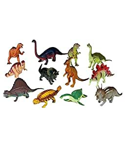 "12 piece Large Assorted Dinosaurs - Toys 5-7"" Larger Size Dinosaur Figures"