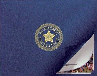 Zertifikat und Dokument Präsentation Ordner mit Gold Folie Seal Akademischer Excellence