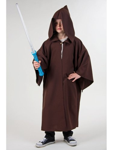 Kostüm für Kinder Kapuzenumhang Braun - Kinder Mönch Kostüm