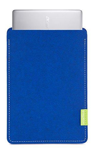 WildTech Sleeve für Acer Chromebook 14 (CB3-431-C6UD) Hülle Tasche aus echtem Wollfilz - 17 Farben (Handmade in Germany) - Azure