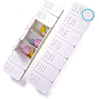 Morza Protable 7 Tage Pill Box-Halter-wöchentlichen Medizin-Speicher-Organisator-Behälter-Kasten-Reise Wesentlich... preisvergleich bei billige-tabletten.eu