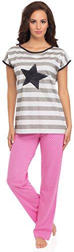 L&L Pyjama Femme Estelle 0230 Gris