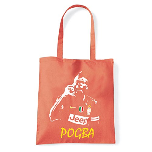 Art T-shirt, Borsa Shoulder Paul Pogba Juventus, Corallo