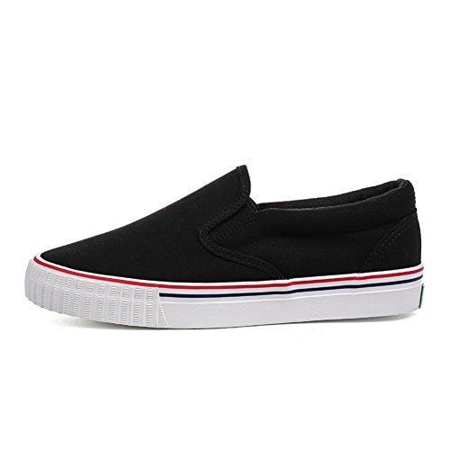 Étudiants au printemps et chaussures de loisirs d'été/Chaussures en toile plate/Chaussures femme/ solide couleur faible Lok Fu chaussures/escoge los zapatos B