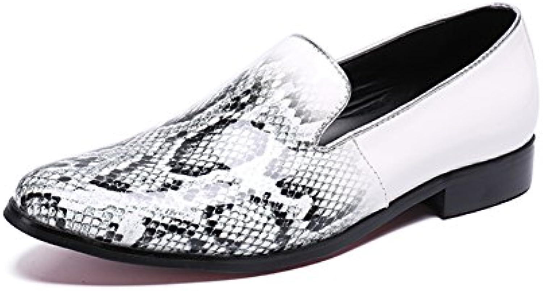 CAI Mocasines de Novedad para Hombres 2018 Four Seasons Transpirables/de Cuero Zapatos de Guisantes de Moda para...