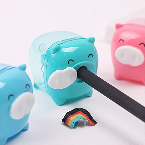 AST Works School Supplies Children Gifts Animal Pig Pencil Sharpener Candy Colored