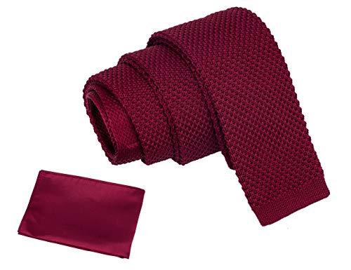 segnalibro Cravatta Uomo Rosso Burgundy Taglia unica