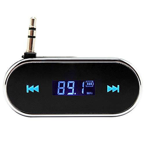 CAPTIANKN Trasmettitore FM, Car AUX Adattatore Radio per iPad, iPhone (3G), 3,5 Mm Jack per Cuffie E Altri Giocatori,Black