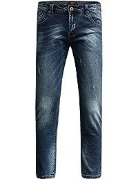 SSLR Jeans Homme Slim Fit Straight Classique Décontracté