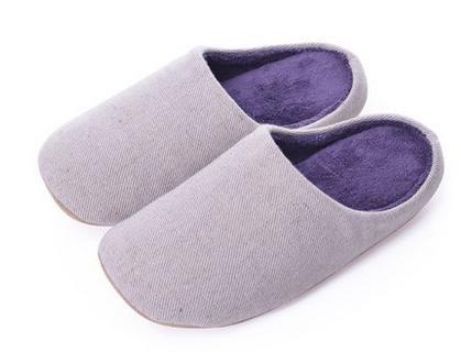 Automne et hiver, hommes et femmes à la maison Accueil chaussons coton fond mou, mettre en sourdine les chaussons d'intérieur female beige