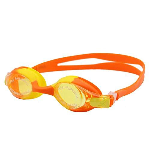 Coniea Schwimmbrille Sehstärke ABS Schwimmbrille für Kinder Schutzbrillen Orange Gelb