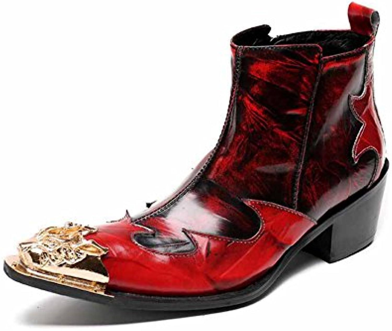 competitive price 02be1 64295 a glshi hommes hommes en cuir pour dames dames dames bottes mode cuir  populaire britannique haut