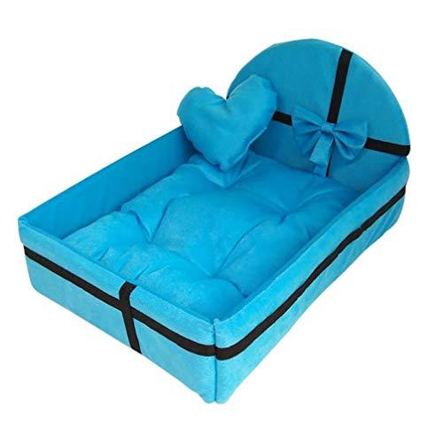 Donad Haustier Hund Haus Bett mit Mat Cute Plüsch Kissen Abnehmbare Warm für kleine, mittlere Hunde Haustiere Matratze Princess Style -