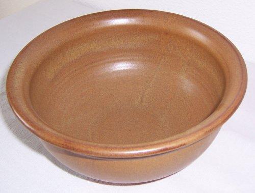 Töpferei Annett Fischer S1 Schüssel Keramik handgetöpfert Schüssel braun Durchmesser 20 cm