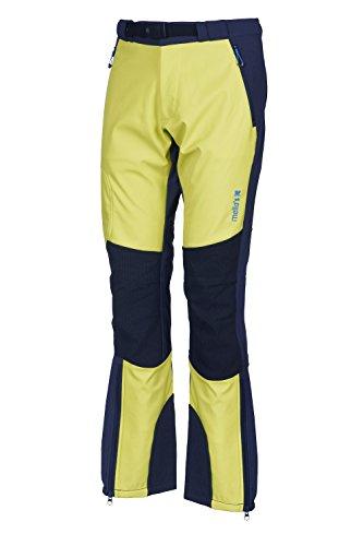Mello's Ripid Plus Evo Hose, Farbe Lime/Blei, Größe 54, Softshell-Hose Winddicht geeignet für Skitouren Trekking Mountain Wandern