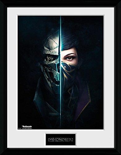 Preisvergleich Produktbild 1art1 100235 Dishonored - 2, Faces Gerahmtes Poster Für Fans Und Sammler 40 x 30 cm