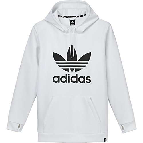 adidas Herren Team Tech Sweatshirt, Weiß, L (Fleece Hoodie Adidas)