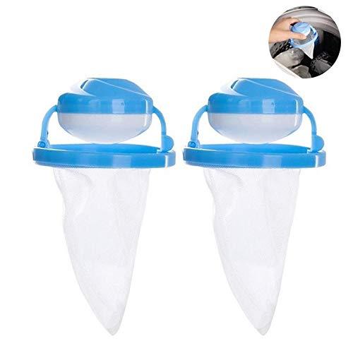 Waschmaschinen Flusensiebe, UMIWE Waschmaschine Filter Taschen Haarfilter Net Maschine Zum Waschen Floating Fusseln Mesh Tasche Laundry Ball Beutel Schwimmdock Lint Netztasche (2 Pack, Blue)