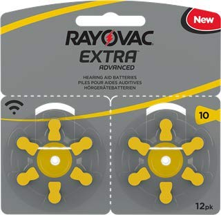 120 Rayovac Extra Advanced NR 10 Zinc Air Pilas para audífonos...