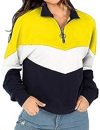 Frau Zur Seite Fahren, Herbst Patchwork O-Ring Reissverschlüsse Mantel Spleißen Hemd Jacke Draußen solide Farbe Oberteile Bluse Beiläufig warm Reise Beiläufig Klassisch betroffen Sweatshirt