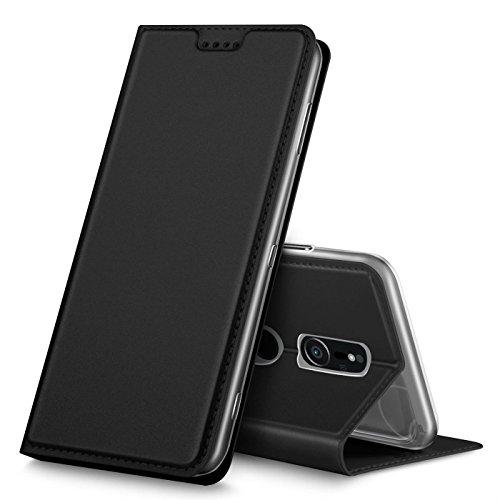 Verco Handyhülle für Xperia XZ2, Premium Handy Flip Cover für Sony Xperia XZ2 Hülle [integr. Magnet] Book Case PU Leder Tasche, Schwarz