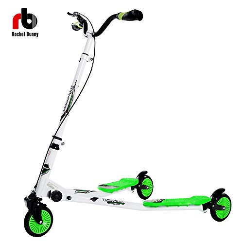 41eGqHemVsL - BEST BUY #1 (Btm) Gifts Large Maxi 3 Wheels Tri Slider Scooter Slider Winged Scooter Tri Motion Drifter for Age 7 Plus Reviews and price compare uk