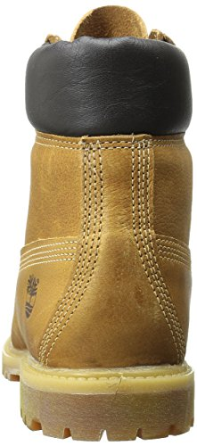 Timberland 6 Inch Premium Boots (6609A) Wheat Rugged W Gold/Metallic Finish