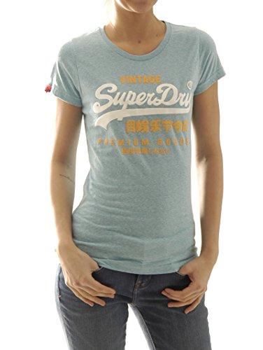 Superdry-Maglietta Premium Goods Duo d'acquamarina Snowy Aquamarine XL
