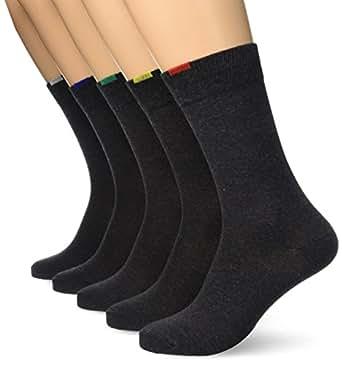 Dim Ecodim, Chaussettes, Lot de 5 paires, Homme, Gris (Gris Moyen), FR: 39-42 (Taille Fabricant: 39/42)
