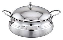 PREMIUM Platina Biryani Pot with Steel Lid, 1.25 Litre - Stainless Steel
