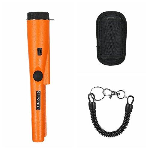 Metal detector ,2018ad alta sensibilità 360° side-scan pinpointer metal detector un bottone facile da usare con tessuto telefono, mini lente di ingrandimento, borsa impermeabile e corda elastica