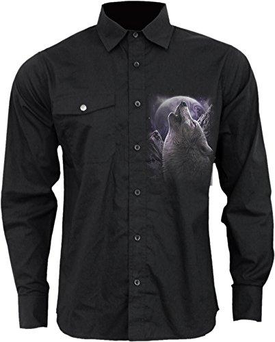 Spiral -  Camicia Casual  - Uomo Black Small