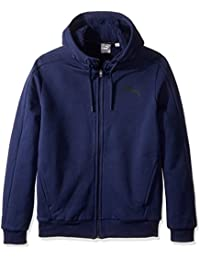 PUMA Men's Front-Zip Jacket with Sherpa-Lined Hood