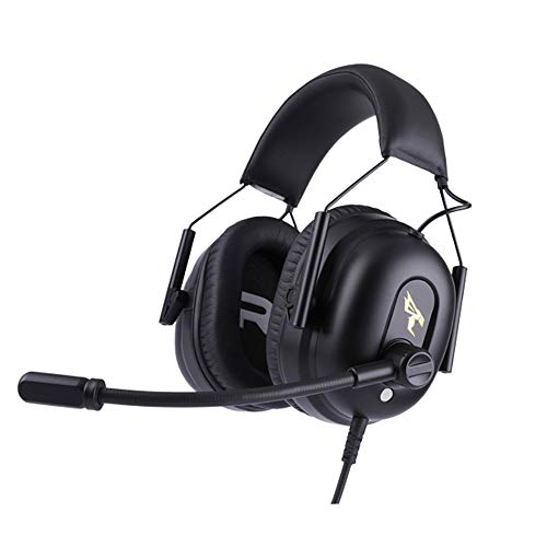 , Computerspiel-Headsets, Virtual 7.1-Wrap-Around-Gaming-Headsets, Stereo-USB-Headsets mit Mikrofonen mit Noise-Cancelling-Funktion, weiche Kopfhöre ()