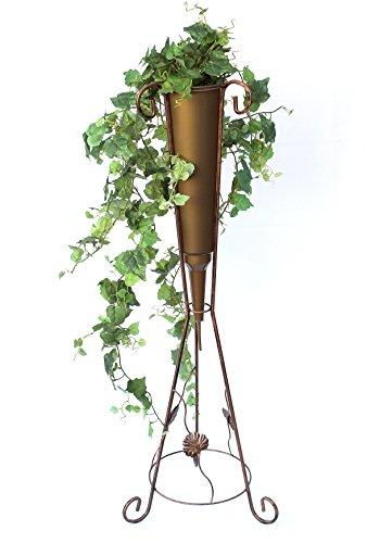 DanDiBo Blumensäule mit Vase Metall 100 cm Blumenständer Art.380 Pflanzsenäule Pflanzenständer Blumenhocker
