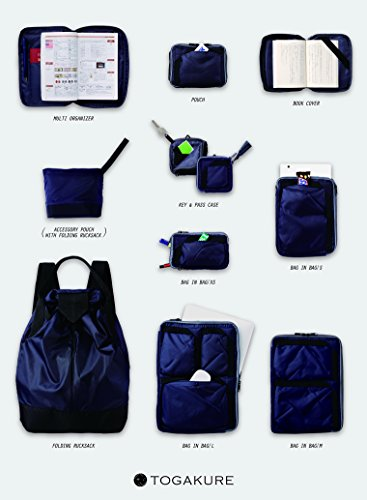 Togakure Ceta Serie Multi-Tasca Chiusura documenti di sicurezza postale di Mark organizzatore sacchetto di caso per la corsa, lavoro, scuola, Artigianato, Borsetta, Cavi (XS Taglia / Coral Red)