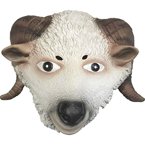 Unbekannt Ziege Maske Halloween Requisiten Tier Maske Dekoration Cosplay Party Tricks Latex Requisiten Kostüm Ball Kopfbedeckungen (Farbe : A)