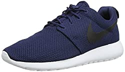 Nike Mens Roshe One Midnight Navy, Black and White Nordic Walking Shoes - 8 UK/India (42.5 EU)(9 US)