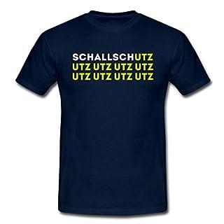 Spreadshirt Schallschutz UTZ UTZ UTZ Musik Laut Party Eskalation Männer T-Shirt, L, Navy