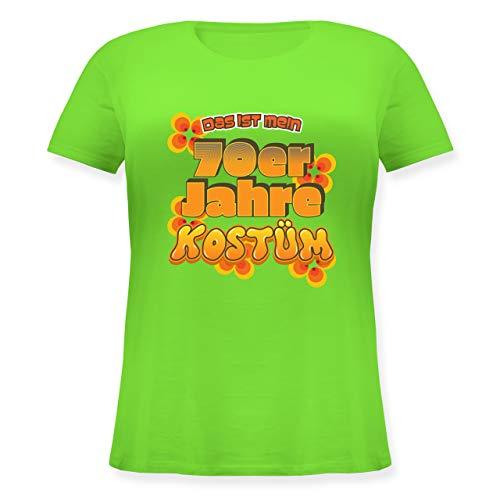 Karneval & Fasching - Das ist Mein 70er Jahre Kostüm - XL (50/52) - Hellgrün - JHK601 - Lockeres Damen-Shirt in großen Größen mit - Woodstock Festival Kostüm