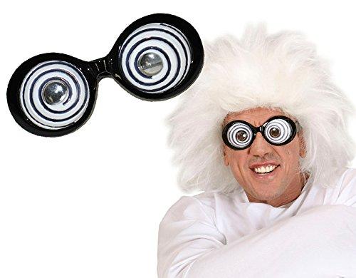 stockofolie-Brille verrückten Wissenschaftlers-Kostüm