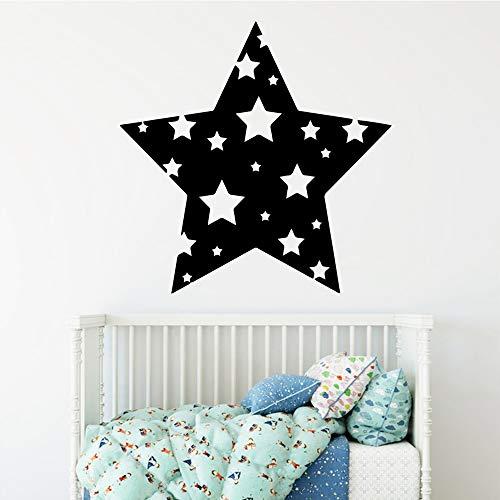 SLQUIET Exquisite sterne Cartoon Wandtattoos Pvc Wandkunst Diy Poster Wandaufkleber für Kinderzimmer Wanddekoration Wandmalereien grau 30x30 cm (30-kuchen-deckel Dirty)