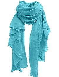 Sanwood Wickelschal/ Stola, Damen, Baumwollleinen, einheitliche Farbe