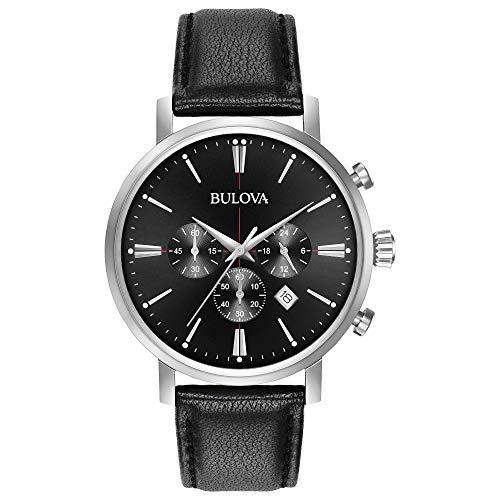 Bulova Montre Analogue-Quartz pour Homme avec Bracelet Cuir 96b262